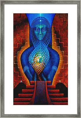 Starlight Temple Of The Dawn Framed Print