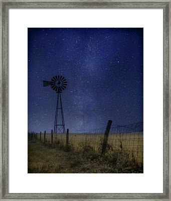 Starlit Country Night Framed Print