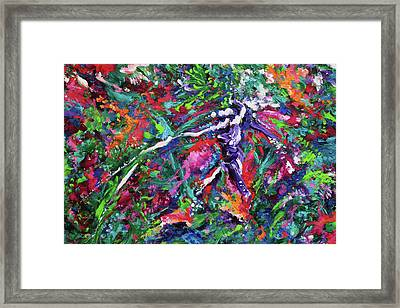 Starman Framed Print by Julie Turner