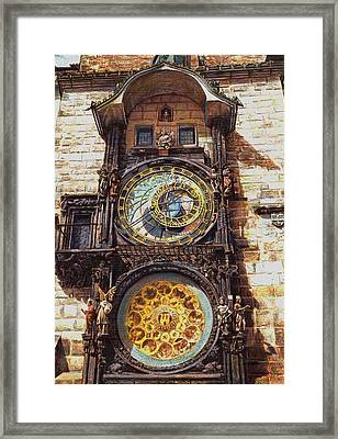 Staromestsky Orloj Framed Print by Gordana Dokic Segedin