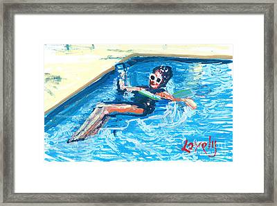 Starr Floating Framed Print by Candace Lovely