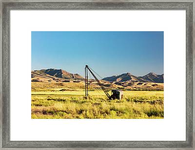 Starr Valley Crane Framed Print by Todd Klassy