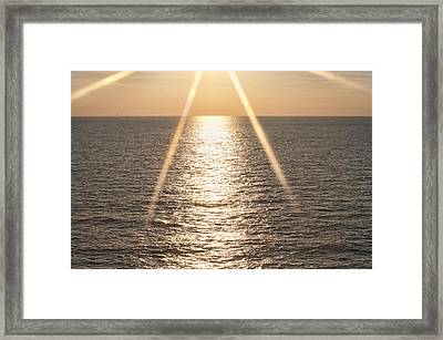 Starred Sunrise Framed Print by Bill Perry