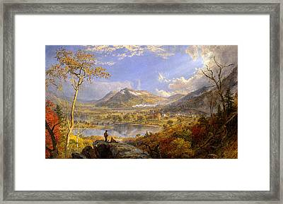 Starrucca Viaduct Pennsylvania Framed Print by Jasper Francis Cropsey