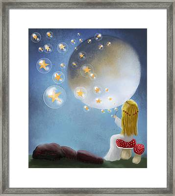 Starry Bubbles By Sannel Larson Framed Print