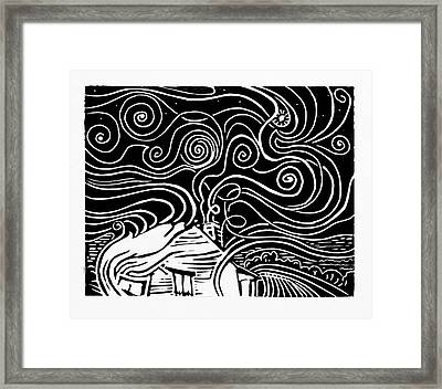 Starry Cabin Framed Print