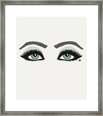 Framed Print featuring the painting Starry Eyed by Lisa Weedn