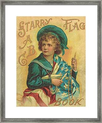 Starry Flag Textured Cover  Framed Print by Reynold Jay