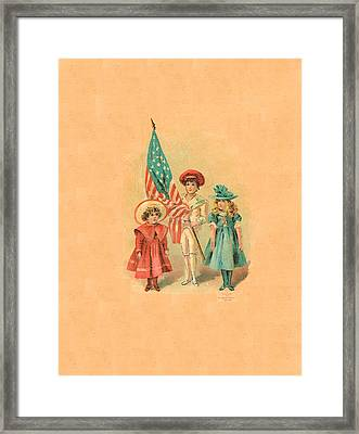 Starry Flagg Abc Back Cover Framed Print by Reynold Jay