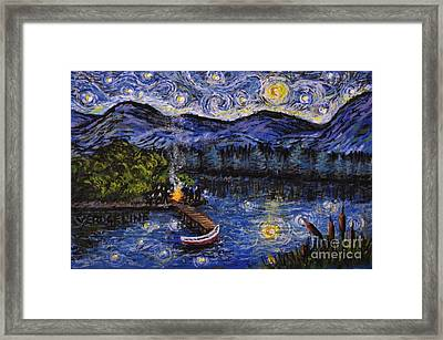Starry Lake Framed Print