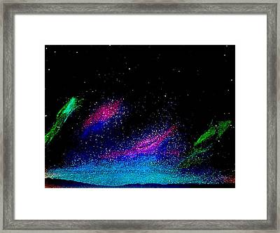 Framed Print featuring the painting Starry Night 2 by Scott Wilmot