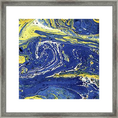 Framed Print featuring the painting Starry Night Abstract by Menega Sabidussi