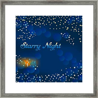 Starry Night Framed Print by Alain De Maximy