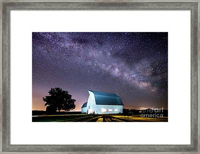 Starry Night At Kelsey Creek Farm Framed Print