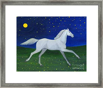 Starry Night In August Framed Print by Anna Folkartanna Maciejewska-Dyba