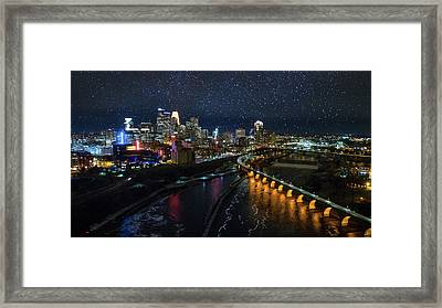 Starry Night In Minneapolis Framed Print