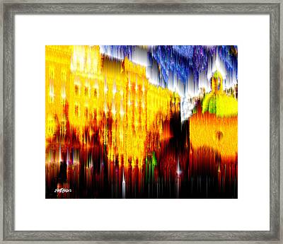Framed Print featuring the digital art Starry Night In Prague by Seth Weaver