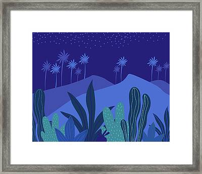 Framed Print featuring the mixed media Starry Night by Kristian Gallagher