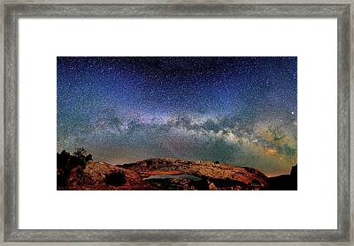 Starry Night Over Mesa Arch Framed Print