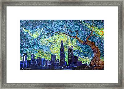 Starry Night Over The Queen City Framed Print