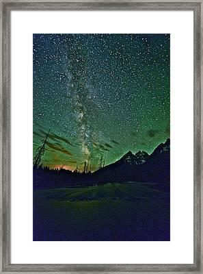 Starry Night Over The Tetons Framed Print