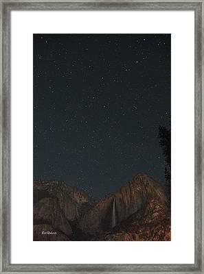 Starry Night Over Yosemite Falls Framed Print by Bill Roberts