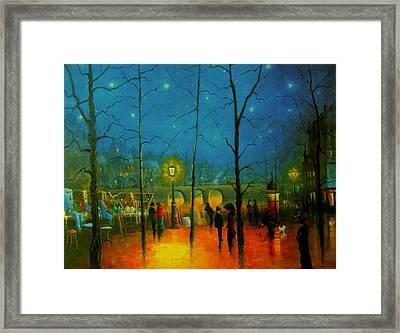Starry Night Paris Framed Print by R Gilronan