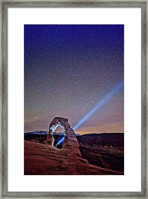 Starry Night Pointer Framed Print