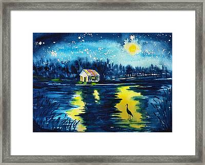 Starry Night Framed Print by Sharon Mick