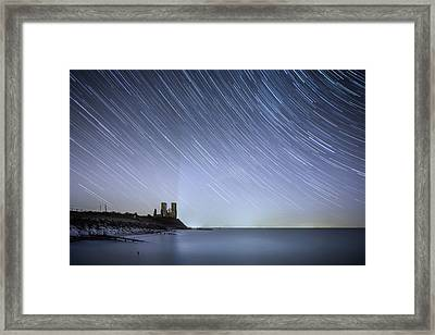 Starry Reculver Framed Print by Ian Hufton