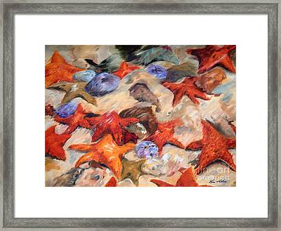 Starry Sea Framed Print by Enzie Shahmiri
