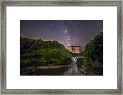 Starry Sky At Letchworth Framed Print by Mark Papke