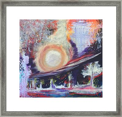 Framed Print featuring the painting Starry Starry Night by Mary Rimmell