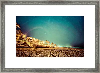 Starry Starry Pacific Beach Framed Print