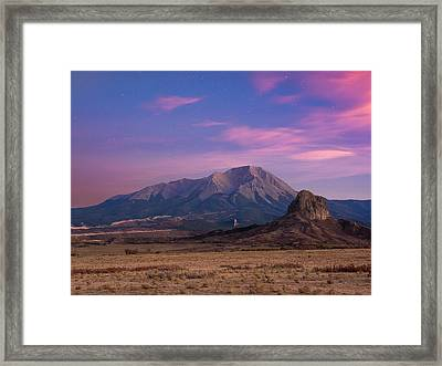 Framed Print featuring the photograph Starry Sunset Over West Spanish Peak by Aaron Spong
