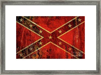 Stars And Bars Confederate Flag Framed Print
