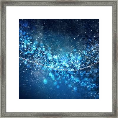 Stars And Bokeh Framed Print