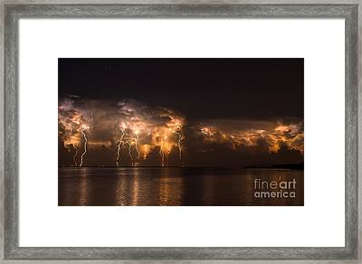 Stars And Bolts Framed Print by Quinn Sedam