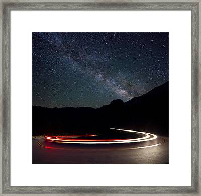 Stars And Cars Framed Print by Dave Johns