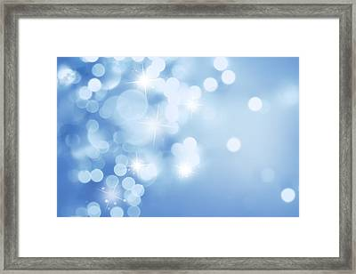 Stars And Circles  Framed Print by Les Cunliffe