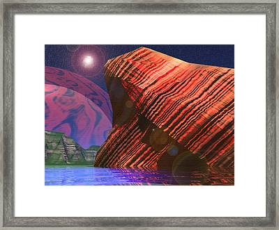 Stars And Might Framed Print by Adam Wells