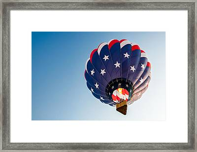 Stars And Stripes Above Framed Print by Todd Klassy