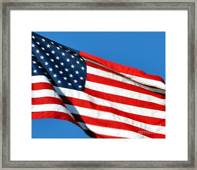 Stars And Stripes Framed Print by Al Powell Photography USA