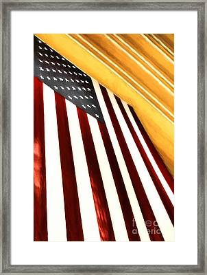 Stars And Stripes At Union Terminal Framed Print
