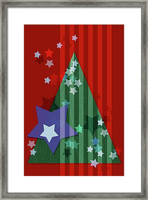 Stars And Stripes - Christmas Edition Framed Print