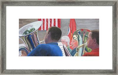 Stars And Stripes Framed Print by Cynthia Vowell