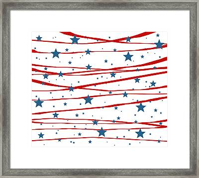 Stars And Stripes Framed Print by Marianna Mills