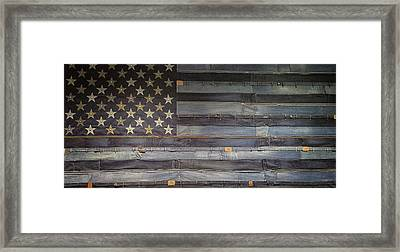 Stars And Stripes Framed Print by Martin Newman