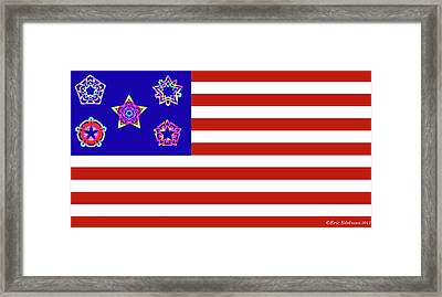 Stars And Stripes Of Retrocollage Framed Print by Eric Edelman