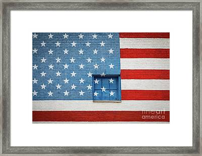 Stars And Stripes Wall Framed Print by Inge Johnsson
